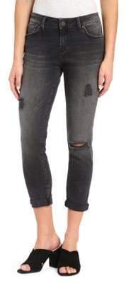 Mavi Jeans Alissa Ripped High-Rise Ankle Jeans