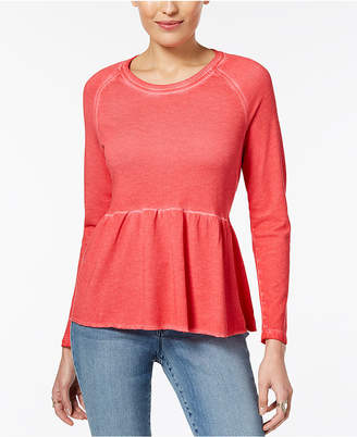 Style&Co. Style & Co Peplum Flounce Top, Created for Macy's