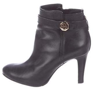 Tory Burch Leather Zip-Up Ankle Boots