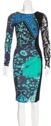 Emilio Pucci Lace-Paneled Silk Dress