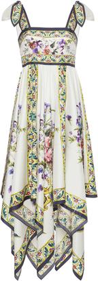 Dolce & Gabbana Floral-Print Silk-Twill Midi Dress $2,675 thestylecure.com