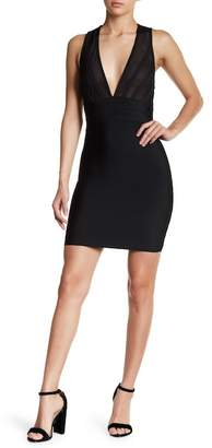 Wow Couture Plunge Neck Dress