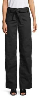 Valentino Self-Tie Belt Cotton Pants