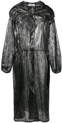 Nina Ricci lace print raincoat