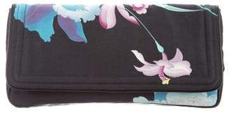 Dries Van Noten Floral Print Leather-Trimmed Clutch
