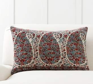 Pottery Barn Rendon Paisley Print Pillow Cover