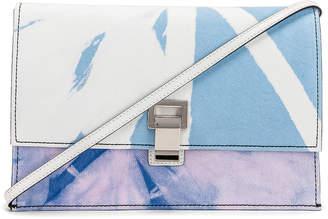 Proenza Schouler Denim Tie Dye Small Lunch Bag in Baby Blue & Lilac | FWRD