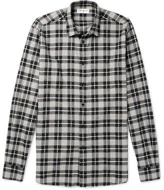 Saint Laurent Checked Cotton And Virgin Wool-Blend Shirt