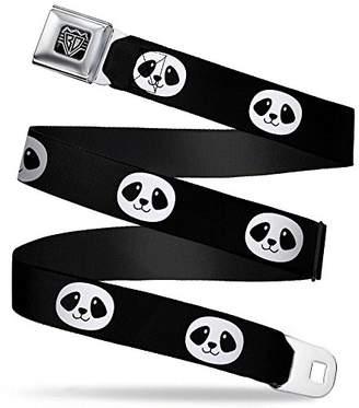 Buckle-Down Unisex-Adults Seatbelt Belt Panda XL