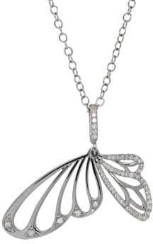 Lord & Taylor Diamond Butterfly Pendant Necklace