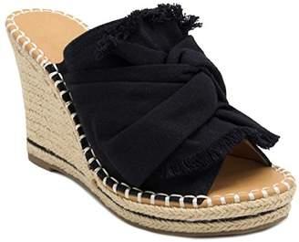 Sugar Women's Honora Slip-On Open Back Espadrille Wedge Sandal