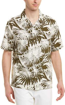 Vince Palm Leaf Cabana Buttondown Shirt