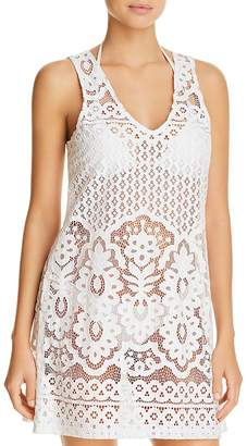 Ralph Lauren J. Valdi Pina Colada Lace Dress Swim Cover-Up
