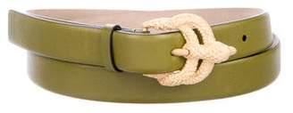 Valentino Skinny Leather Belt