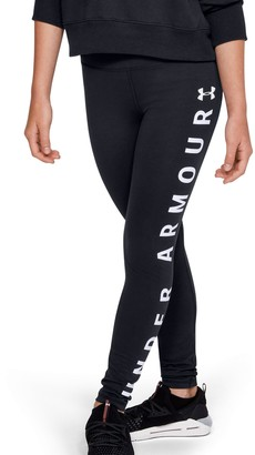 Under Armour Girls' UA Sportstyle Branded Leggings