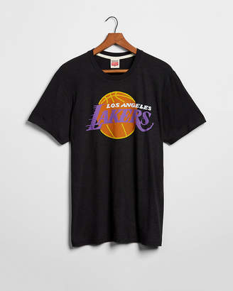 Express Homage Los Angeles Lakers Ball Graphic Tee