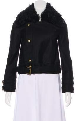 Rachel Zoe Collar Shearling Jacket