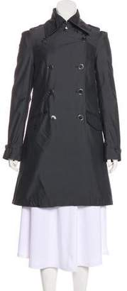 Patrizia Pepe Tonal Double-Breasted Coat