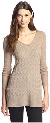 James & Erin Women's Link Pattern Cashmere Sweater