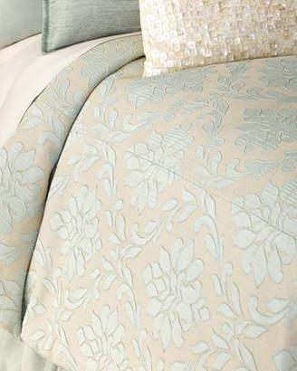 Fino Lino Linen & Lace Queen Chianti Duvet Cover