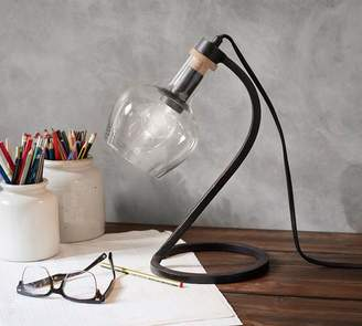Pottery Barn Barnaby Recycled Glass Task Accent Lamp