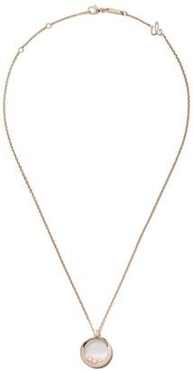 Chopard 18kt rose gold Happy Diamonds Icons pendant