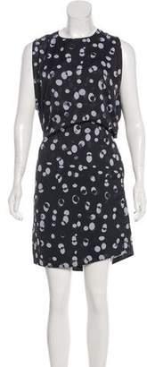 Vince Printed Knee-Length Dress