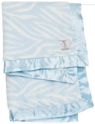 Little Giraffe Blue Zebra Blanket