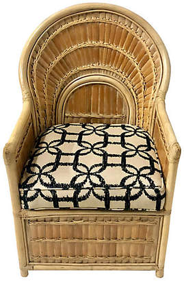 One Kings Lane Vintage Split Bamboo Chair in Linen - Von Meyer Ltd.
