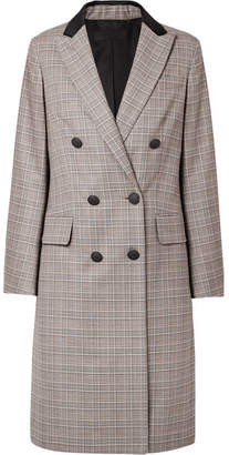 Rag & Bone Preston Double-breasted Checked Wool And Cotton-blend Coat - Gray