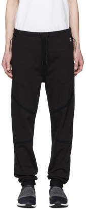 Isaora Black Taped Quick Dry Lounge Pants