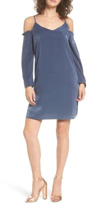 Women's Everly Satin Cold Shoulder Dress $49 thestylecure.com