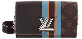 Louis Vuitton 2016 Monogram Stripe Twist Chain Wallet