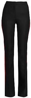 Alexander McQueen Women's Side Stripe Flared Wool Pants