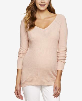 Jessica Simpson Maternity V-Neck Sweater