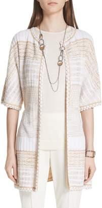 St. John Mixed Floats Stripe Knit Jacket