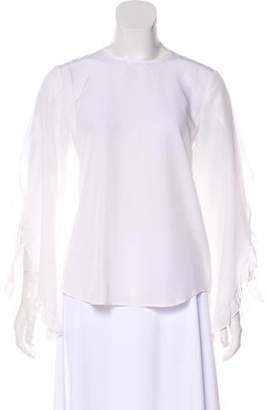 A.L.C. Silk Long Sleeve Top