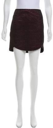 Tibi Metallic Jacquard Skirt