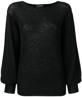 Roberto Collina bishop sleeve sweater