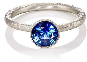 Malcolm Betts Women's Blue Sapphire Ring-Platinum