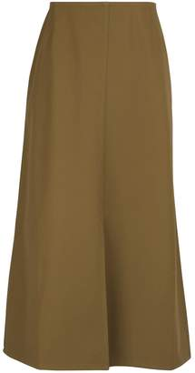 Sofie D'hoore Twisted cotton twill mid-length skirt