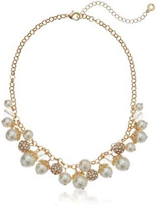 Anne Klein Women's Gold Tone Shaky Strand Necklace