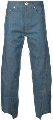 Lanvin asymmetric loose jeans