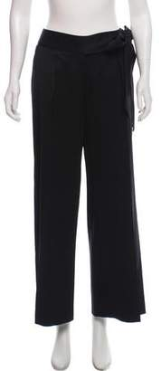 John Varvatos Wool High-Rise Pants