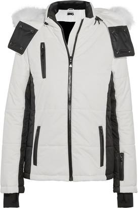 Topshop Sno - Zero Faux Fur-trimmed Hooded Ski Jacket - White