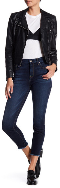 7 For All Mankind7 For All Mankind The Frayed Hem Ankle Skinny Jean