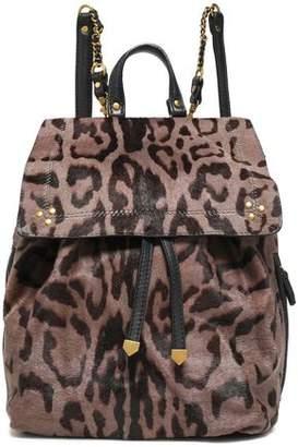 Jerome Dreyfuss Florent Leopard-Print Calf Hair Backpack