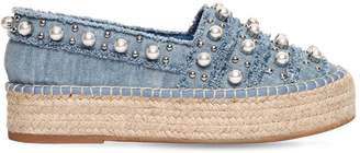 Sebastian 40mm Embellished Denim Espadrilles