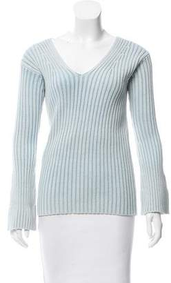 Sies Marjan Rib Knit Bell Sleeve Sweater