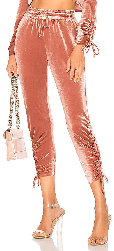Behati Ruched Velour Jogger